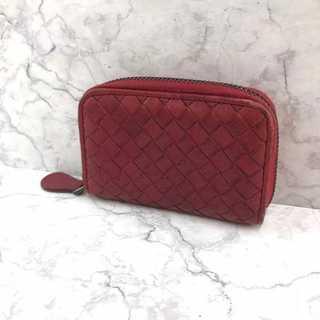 Bottega Veneta - ❤決算セール❤ ボッテガ 財布 折り財布 イントレチャート レザー 本革 レッド