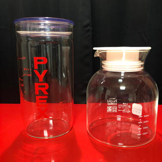 パイレックス(Pyrex)の中古品◆イワキ パイレックス 耐熱ガラス保存容器 2個セット(容器)