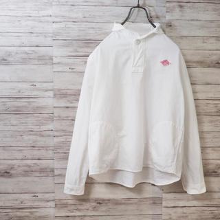 DANTON - DANTON コットンブラッシュド ラウンドカラーシャツ