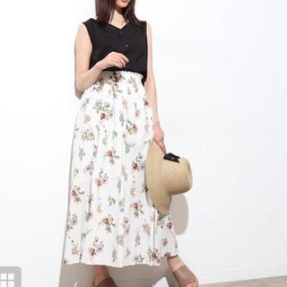 ViS - 【未着用】ViS マルチウェイ 花柄プリント ギャザースカート