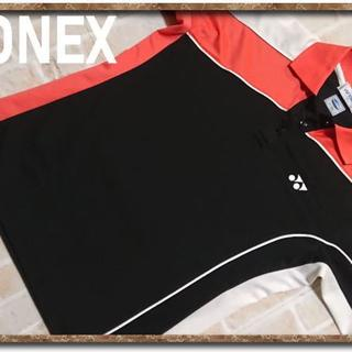 ヨネックス(YONEX)のヨネックス 刺繍入り切替半袖ポロシャツ 黒(ポロシャツ)