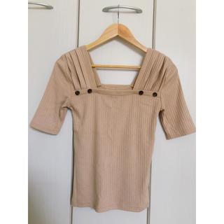 マウジー(moussy)のmoussy リブTOPS(カットソー(半袖/袖なし))