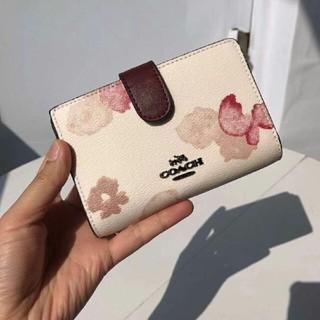 COACH - COACH 正規品 F39127ミディアム フローラル プリント 二つ折り財布