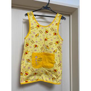 くまのプーさん - 美品 ディズニー プーさん エプロン 保育士 幼稚園 ポケット付き スモック