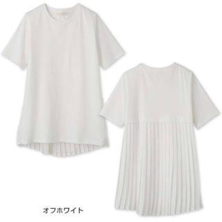 ZARA - 新品未使用 バックプリーツ  切替 Tシャツ L