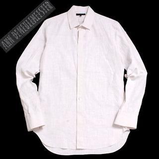 アンドゥムルメステール(Ann Demeulemeester)のANN DEMEULEMEESTER フライフロントリネンシャツ sizeXS (シャツ)