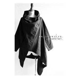 アンティカ(antiqua)のantiqua  綿麻 アシンメトリー  羽織り(ノーカラージャケット)