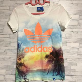 adidas - adidas  アディダス オリジナルス 南国夕焼け風景 Tシャツ