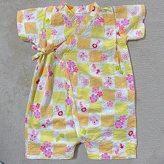 ミキハウス(mikihouse)の美品☆ ミキハウス 甚平 60cm 70cm ロンパース(甚平/浴衣)