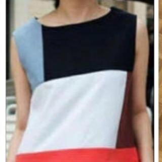 アメリヴィンテージ(Ameri VINTAGE)の【要コメント】美品♡Ameri vintageデニムパッチワークトップス(カットソー(半袖/袖なし))