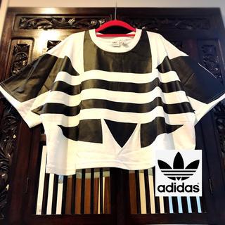 adidas - アディダス オリジナルス ビッグロゴ 黒 タンクトップ Tシャツ