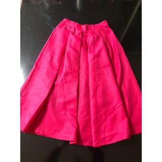 グレイル(GRL)の⭐︎美品⭐︎GRL 膝丈 カラー ピンク スカート(ひざ丈スカート)