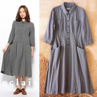 MARGARET HOWELL - マーガレットハウエル 丸襟 ワンピース シャツドレス 7分袖 52,920円