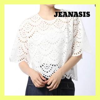 JEANASIS - JEANASIS ジーナシス カットワークレースカットソー