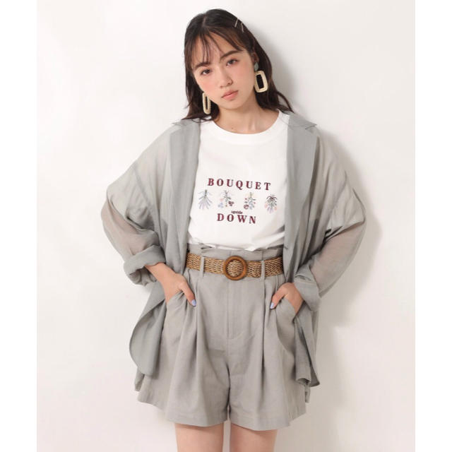 one after another NICE CLAUP(ワンアフターアナザーナイスクラップ)のone after another NICECLAUP 刺繍アソートTシャツ レディースのトップス(Tシャツ(半袖/袖なし))の商品写真