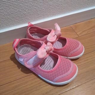 IFME イフミー サンダル 17cm リボン付き ピンク