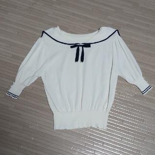 ロディスポット(LODISPOTTO)のロディスポット セーラー衿 ニット(シャツ/ブラウス(半袖/袖なし))