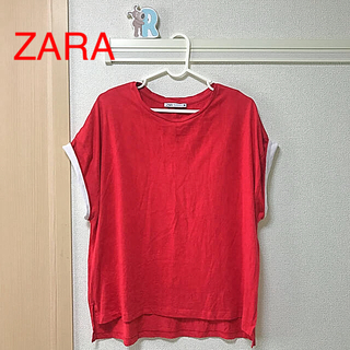 ZARA - ZARA  コントラストスリーブTシャツ Sサイズ