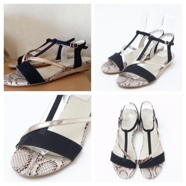 AU BANNISTER(オゥバニスター)の新品 ★ オゥ バニスター Tストラップ ジュート サンダル レディースの靴/シューズ(サンダル)の商品写真