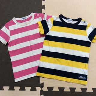 ホットビスケッツ(HOT BISCUITS)のミキハウス 半袖シャツ 90cm 2枚セット(Tシャツ/カットソー)