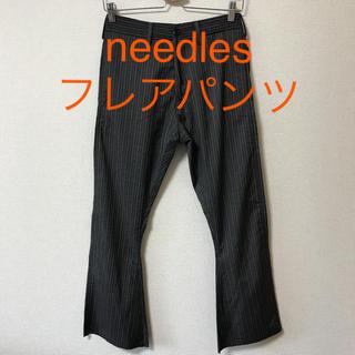 ニードルス(Needles)のneedles ニードルス フレアスラックス フレアパンツ ストライプ(スラックス)