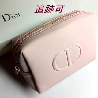 Dior - 追跡可★2020新作 Dior ライトピンク ツヤ CDロゴ コスメポーチ