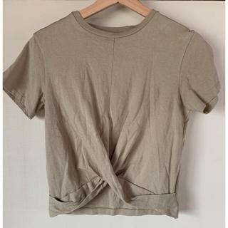 トゥデイフル(TODAYFUL)のtodayful フロントクロスTシャツ(Tシャツ(半袖/袖なし))