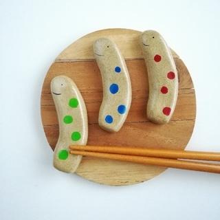 カラフルちんあなご  箸置きセット(テーブル用品)