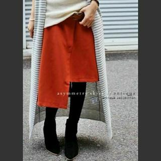antiqua - antiqua⭐アシンメトリー膝丈スカート