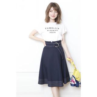 Apuweiser-riche - Apuweiser-riche♡配色ステッチフレアスカート