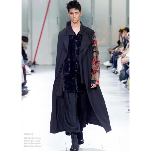 Yohji Yamamoto(ヨウジヤマモト)のYohji Yamamoto 20SS スタンドカラー ベルベット ジャケット メンズのジャケット/アウター(その他)の商品写真