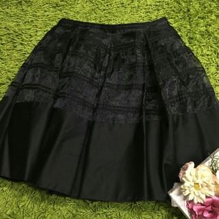 FOXEY - フォクシー レディチュールスカート黒