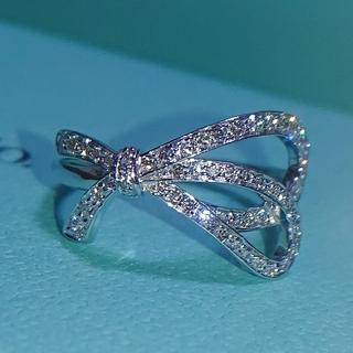 Tiffany & Co. - ティファニー ボウ リング ダイヤ K18 ダイヤモンド リボン