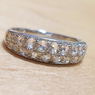 ローズカット ダイヤモンド パヴェリング ダイヤ K18
