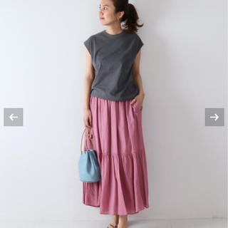 FRAMeWORK - 新品未使用タグ付★綿麻ボイル 製品染めティアードスカート