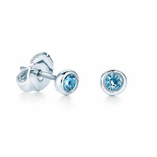 Tiffany & Co. - ティファニー カラー バイザヤード ピアス アクアマリン シルバー925