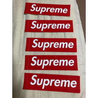 シュプリーム(Supreme)のSupreme box logo 赤ステッカー 5枚セット(その他)