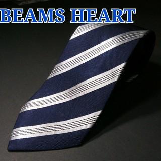 ビームス(BEAMS)のBEAMS HEART レジメンタル ネクタイ ネイビー(ネクタイ)