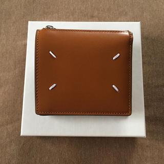 マルタンマルジェラ(Maison Martin Margiela)の19AW新品 メゾン マルジェラ カーフレザー 折り財布 タン ブラウン メンズ(折り財布)