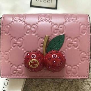 グッチ(Gucci)のGUCCI グッチ チェリー さくらんぼ 財布 カードケース(折り財布)