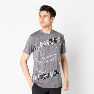 UNDER ARMOUR - 新品 アンダーアーマー Tシャツ グレー LG ビッグロゴ ヒートギア UA