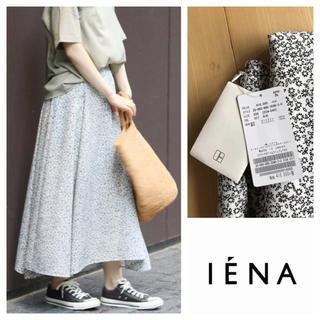 IENA - イエナ フラワープリント ヘムラインフレアスカート 34