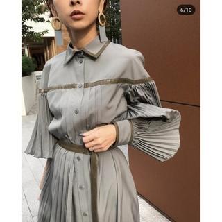 Ameri VINTAGE - Ameri【新品】PLEATS BELT LAYERED DRESS
