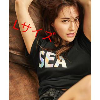シー(SEA)のSEA(middle iridescent)T-shirt Black Lサイズ(Tシャツ(半袖/袖なし))