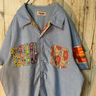 チチカカ(titicaca)のクレイジーパターン サイケデリック柄 ワークシャツ 開襟シャツ(シャツ)