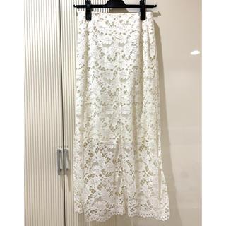 LE CIEL BLEU - 定価25300円 新品タグ付❤️LECIELBLEU リーフレースミドルスカート
