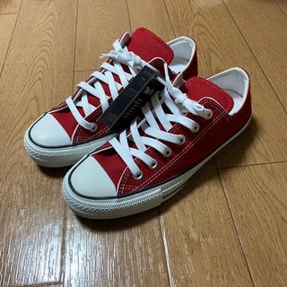 CONVERSE - converse 赤 スニーカー 24.5