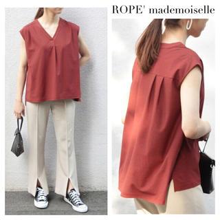 ロペ(ROPE)のROPE' mademoiselle ブラウスライクVネックプルオーバー(カットソー(半袖/袖なし))
