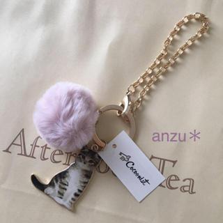 AfternoonTea - アフタヌーンティー  キャットメタルチャーム*ピンク