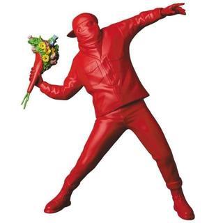 メディコムトイ(MEDICOM TOY)の送料込 FLOWER BOMBER RED Ver. Banksy バンクシー(彫刻/オブジェ)
